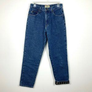 LL Bean Natural Fit Flannel Lined Jeans 30/32